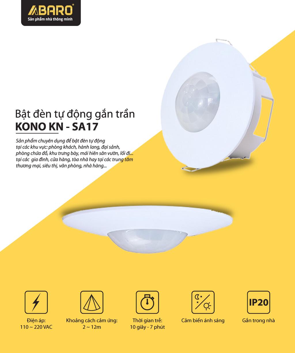 Bật Đèn Tự Động Gắn Trần KONO KN-SA17