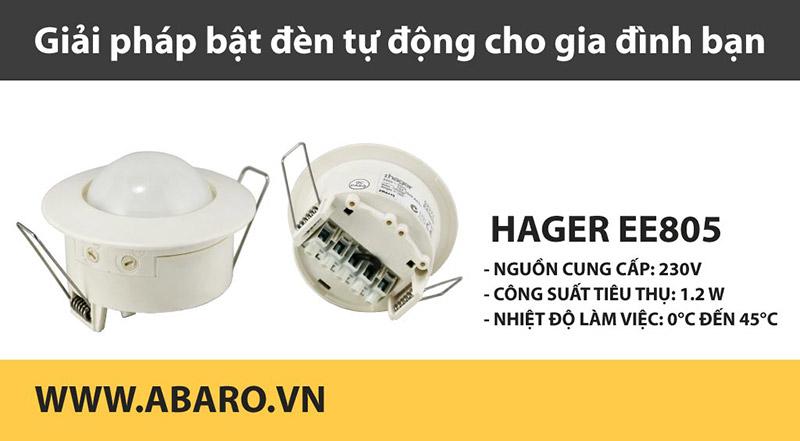 Cảm biến chuyển động âm trần Hager EE805